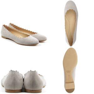 Chloe Shoes - Chloe Ballerina Pump Soft Suede Grey Flats